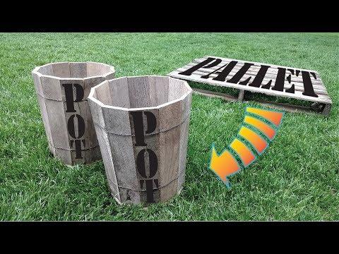 Turn a wood Pallet into a Wooden Barrel Pot