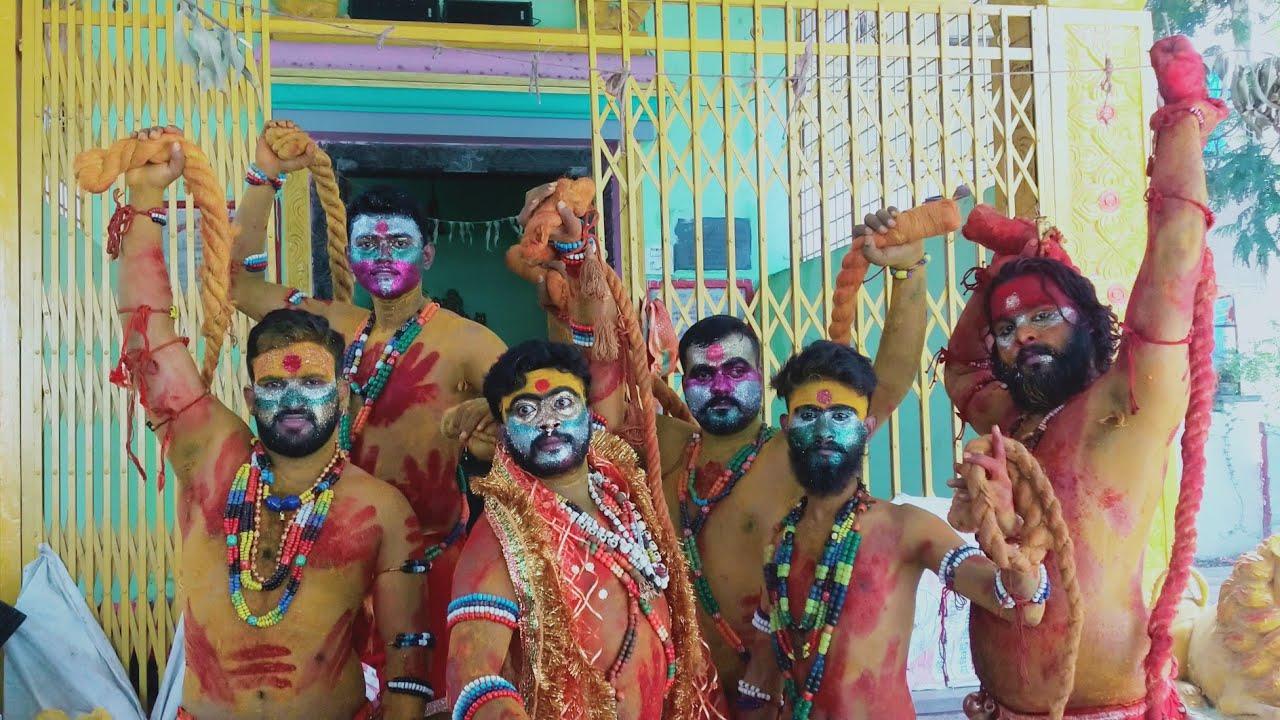 Golconda Bonalu 2020   Pothurajulu Theenmar Dance   Thalwar Shiva Pothuraj   Madhapur Shiva Pithuraj