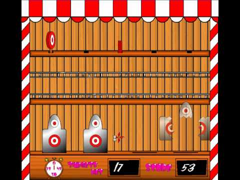 how to build a carnival shooting gallery