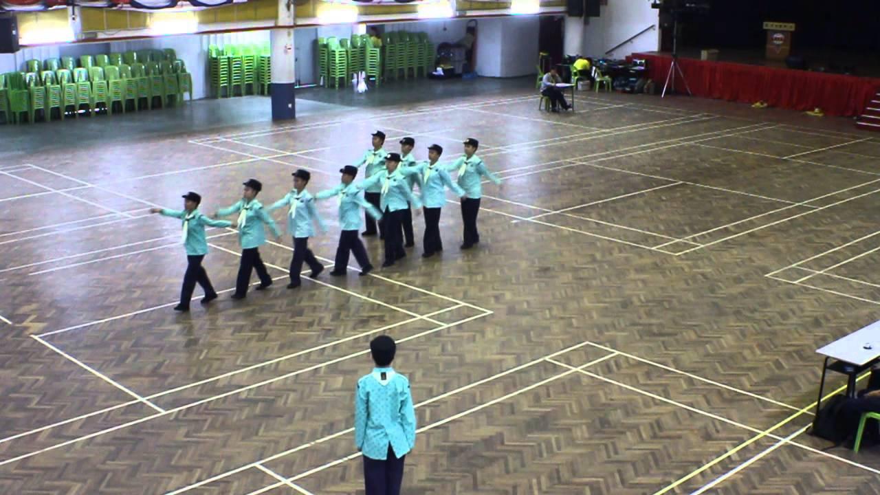 2013年巴生光華獨中女童軍10人花式步操比賽(芙中童軍全國賽-時光機) - YouTube