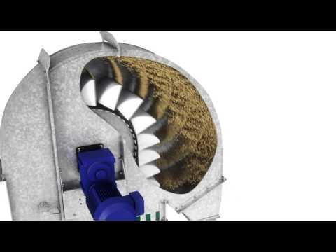 Korečkový elevátor EC CIBRIA HEID Bucket Elevator animace
