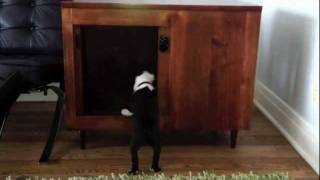 Pinnacle Woodcraft Amish Crafted Custom Dog Crate Http://www.pinnaclewoodcraft.com/