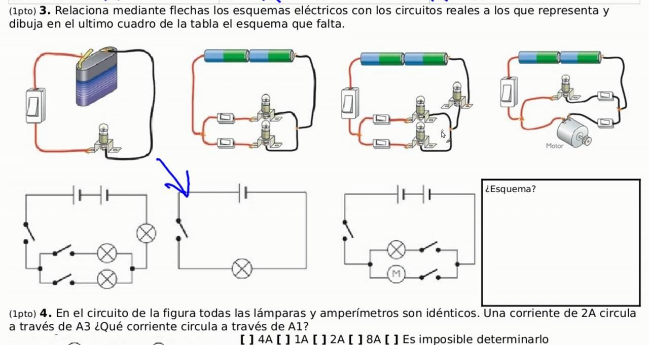Circuito Electrico Basico : Electricidad ejercicio resuelto esquema circuitos