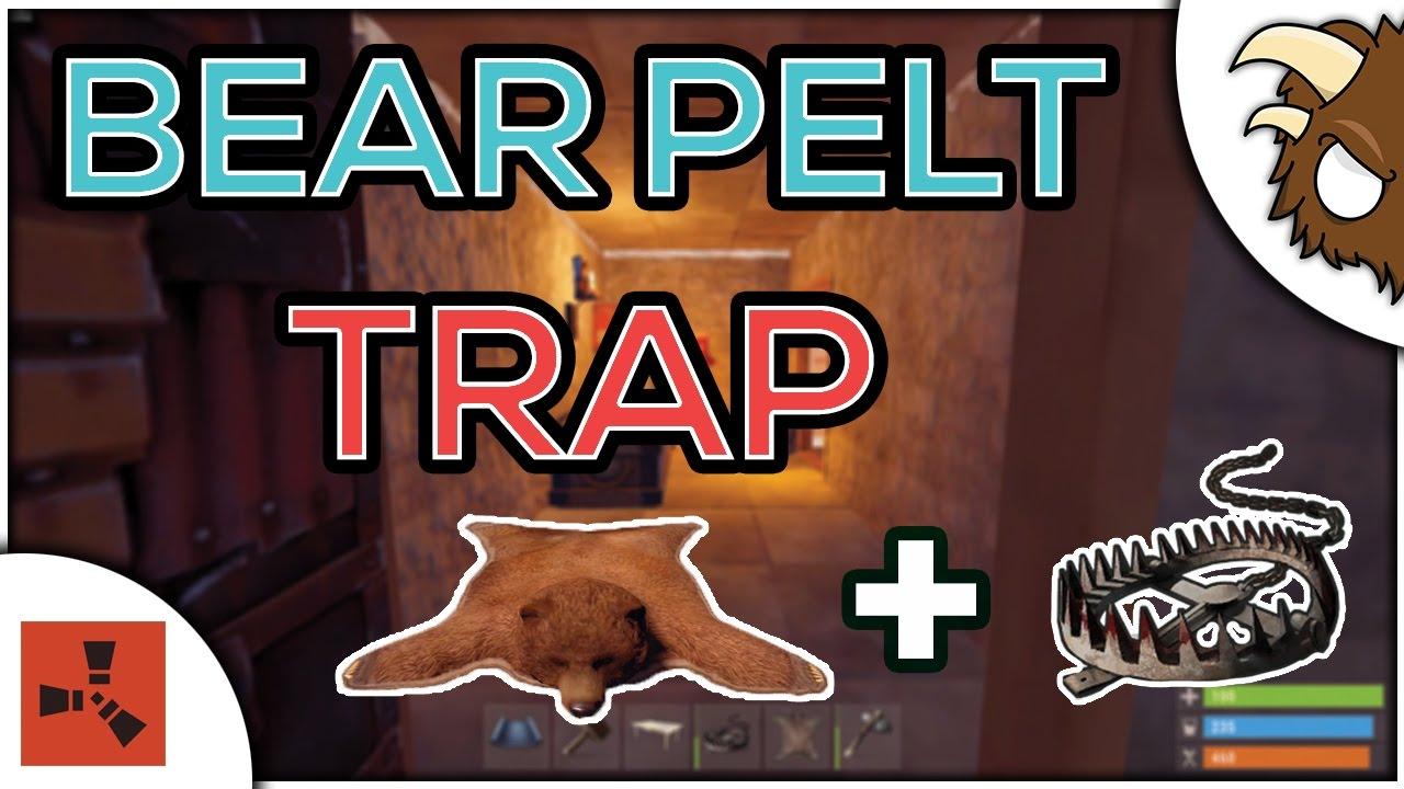 Bear Skin Rug Trap Rust Tips N