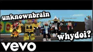 Unknown Brain - Why Do I? (feat. Bri Tolani) | ROBLOX Music Video | Dog Human | FT. Commander Kahlel