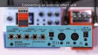 Tips for MD-500 (4): Using an external effect unit with the MD-500 to shape your sound