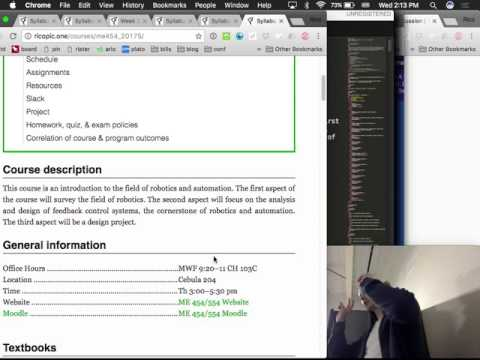 Robotics and Automation: Lecture 001 Syllabus and introduction.