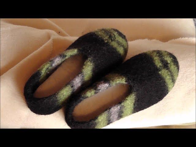 Hausschuhe Aus Filzwolle Stricken Und Filzen Teil 1 3 Clipfailcom
