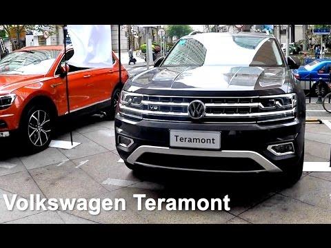 VW Teramont 2017 2018 live съемка нового 7 местного кроссовера в Китае на Шанхайском автосалоне