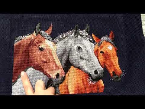 Лошади вышивка крестом схемы