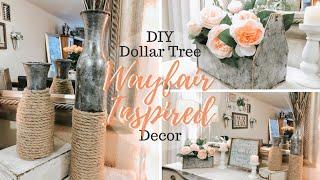 DIY DOLLAR TREE WAYFAIR INSPIR…