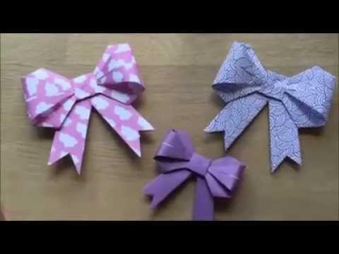 cara membuat hiasan kado (origami)