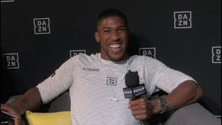Anthony Joshua Talks To FIGHT SPORTS About Training, Povetkin & Wilder
