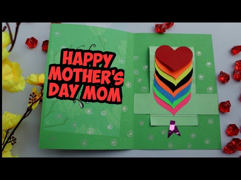 DIY Easy Valentine's Day Card With Minimum Supplies/ Valentine's waterfall card