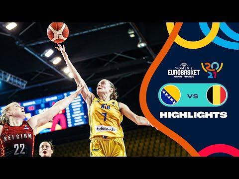 Bosnia and Herzegovina - Belgium | Highlights - FIBA Women's EuroBasket 2021
