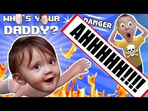 Thumbnail: BABY IN DANGER ☠ Who's Your Daddy Skit + Gameplay w/ Shawn vs Knife, Fire, Glass & More (FGTEEV Fun)