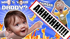 BABY IN DANGER  Who's Your Daddy Skit + Gameplay w/ Shawn vs Knife, Fire, Glass & More (FGTEEV Fun)