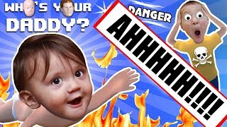 Download BABY IN DANGER ☠ Who's Your Daddy Skit + Gameplay w/ Shawn vs Knife, Fire, Glass & More (FGTEEV Fun) Mp3 and Videos