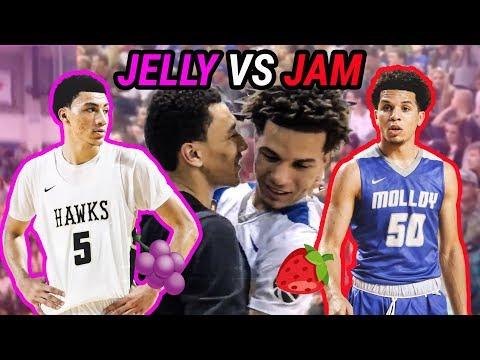 JELLY FAM VS JAM FAM Point Guard Battle! Jahvon Quinerly Drops 37 Against Cole Anthony!
