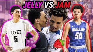 JELLY FAM VS JAM FAM Point Guard Battle! Jahvon Quinerly Drops 37 Against Cole Anthony!