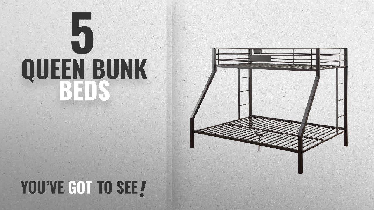 e189c81d1114 Top 10 Queen Bunk Beds  2018   ACME Limbra Black Sand Twin XL over ...
