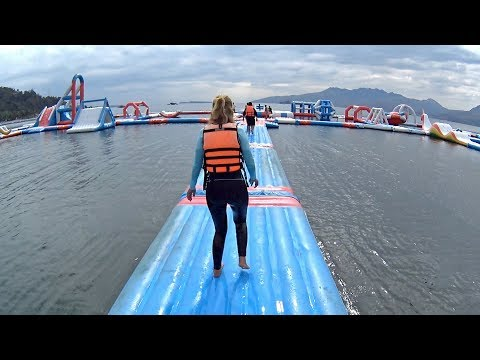 Super Fun Balloon Slide At Inflatable Island Subic
