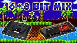 Sonic the Hedgehog - Green Hill Zone 16 + 8 Bit Mix Mp3