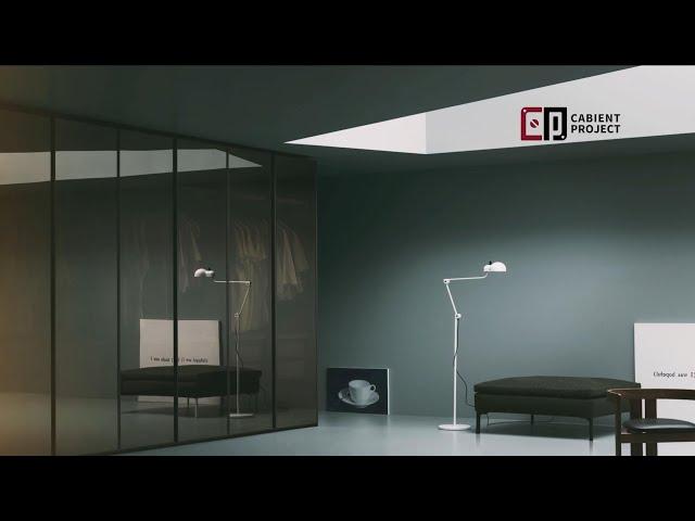 Proyecto de gabinete Sistema de guardarropa abierto con cajones