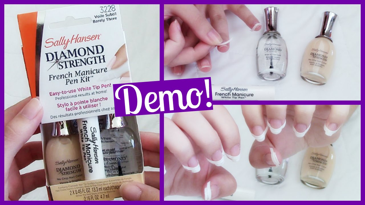 Sally Hansen Diamond Strength French Manicure Pen Kit Demo First Impression You