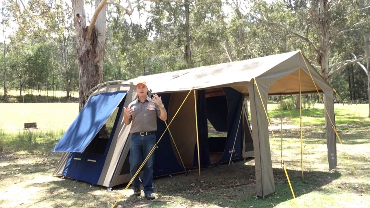 Introducing the new Diamantina Bungalow Canvas Tent - sleeps 4 to 8 people in one or two rooms. & Introducing the new Diamantina Bungalow Canvas Tent - sleeps 4 to ...