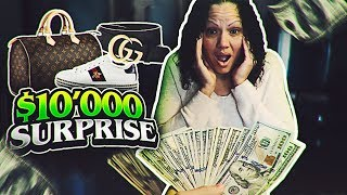SURPRISING MY MOM WITH $10,000 AND TAKING HER ON INSANE DESIGNER SHOPPING SPREE! *SUPER EMOTIONAL*