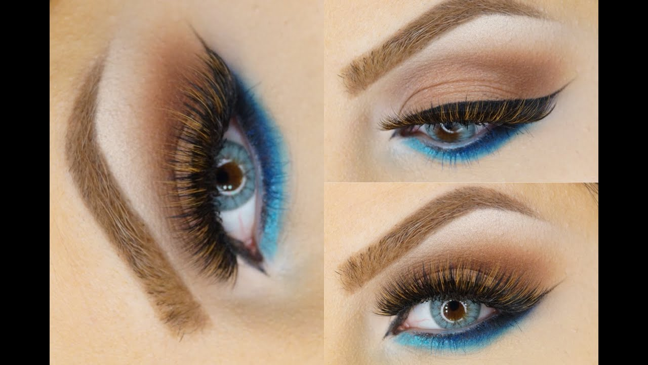 blue dramatic smoky eye tutorial makeup by ani youtube