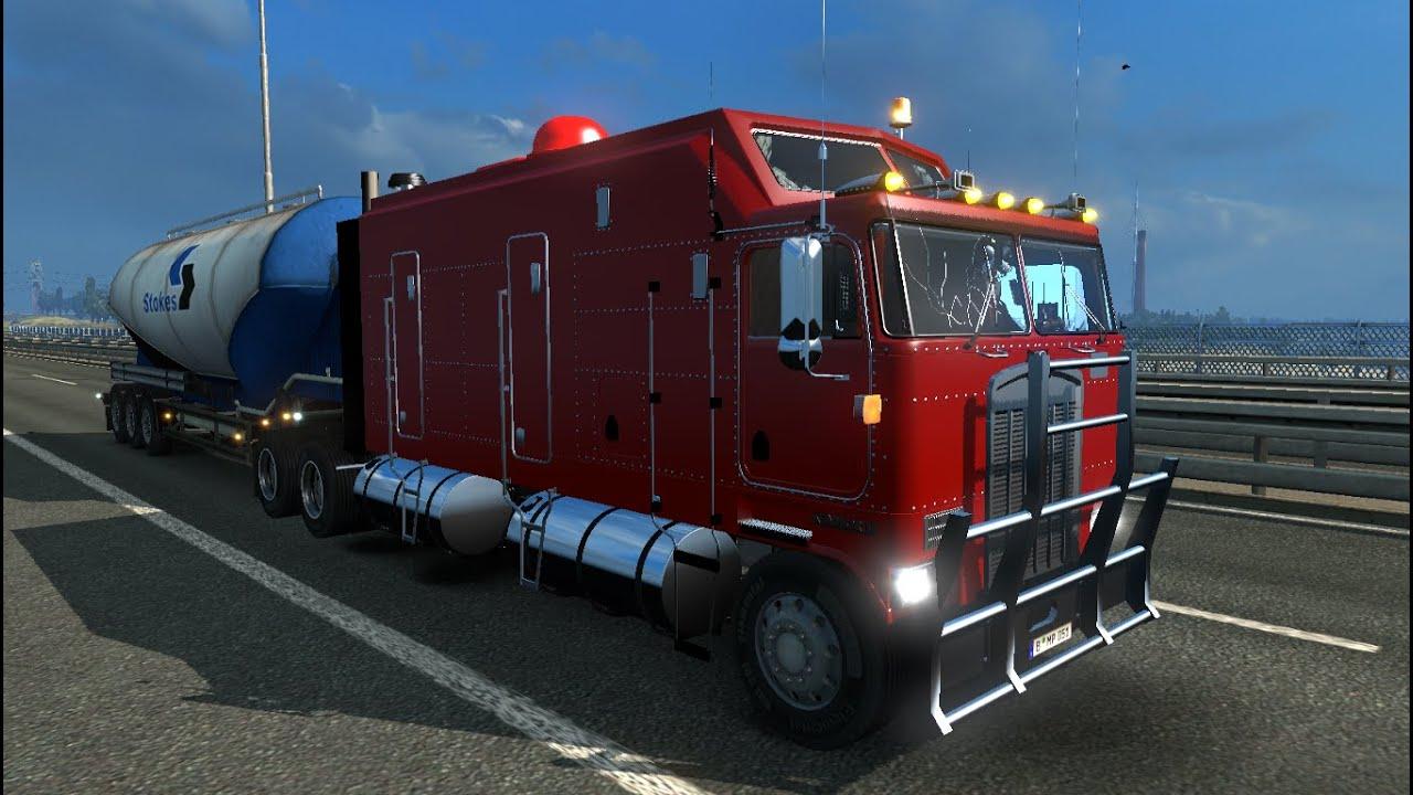 Euro Truck Simulator 2. Мод: Kenworth K100 LONG FRAME. (Ссылка в ...