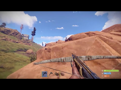 STEALING LOOT from a HELI FIGHT NAKED!   Rust Solo
