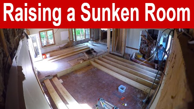raising a sunken living room raising a sunken room time lapse 19280