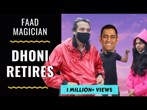 FAAD MAGICIAN- DHONI RETIRES   RJ Abhinav