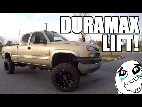 Duramax Build Update! ZONE OFFROAD 6 Inch Lift Install ...