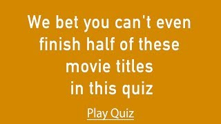 Movie Quiz - Most people can't get more than a 6 in this quiz!