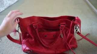 Balenciaga Red Velo: Wear and Tear (Coquelicot/Poppy from 2011)