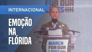 DISCURSO DE SOBREVIVENTE DE TIROTEIO EMOCIONA PELO SILÊNCIO