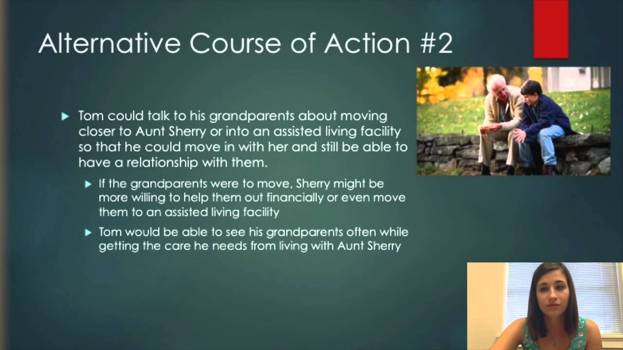 determine alternative course of action Analyzing case studies determine alternative courses of action available for evaluate each course of action evaluate each alternative using the facts.