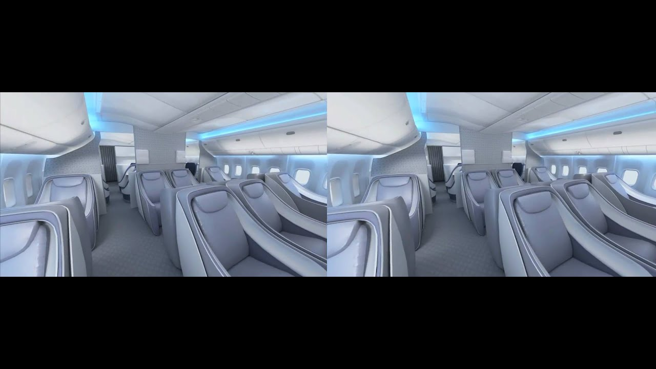 Boeing 777 interior in 3d youtube for Boeing 777 interior