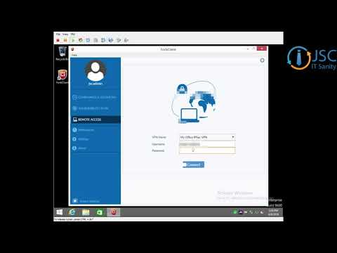 Connect to IPSec VPN with Forticlient