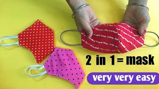 New Style Pattern face Mask Very Easy Face Mask Sewing Tutorial How to make face mask at home