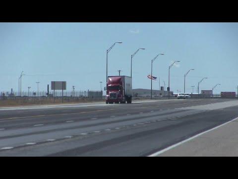 Powerful Winds Push Semi Truck Over