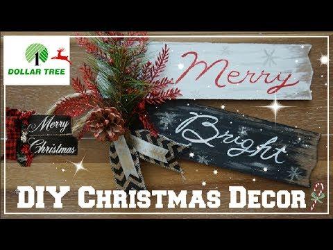DOLLAR TREE DIY CHRISTMAS DECOR 2018 | FARMHOUSE HOLIDAY DECOR IDEAS | Momma From Scratch