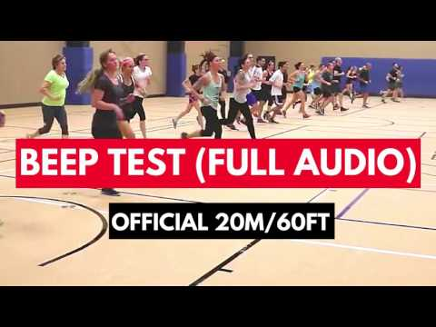 BEEP TEST FULL AUDIO (20m/60ft) : How to do the Beep Test (Instructions in Description)