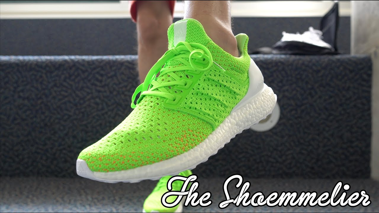What's On My Feet Today: miadidas Ultra BOOST Clima 'Solar Green' by The Shoemmelier