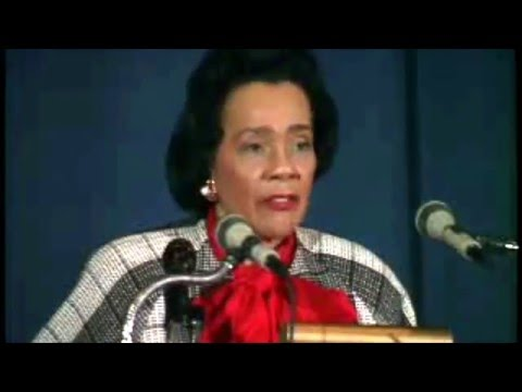 Coretta Scott King speaks at Chatham University in Pittsburgh