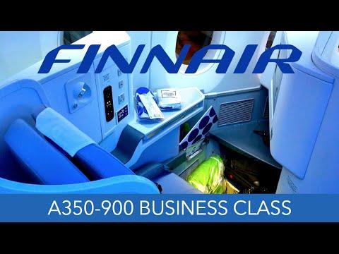 Finnair A350 Business Class Review Hong Kong to Helsinki Trip Report